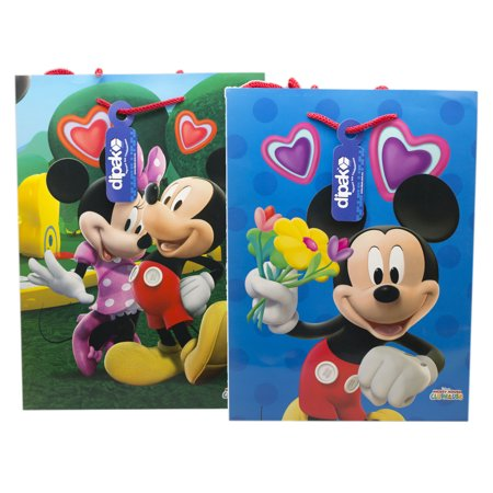 Disney's Mickey and Minnie Mouse Medium Size Gift Bag Set (2pc)](Mickey Mouse Gift Wrap)