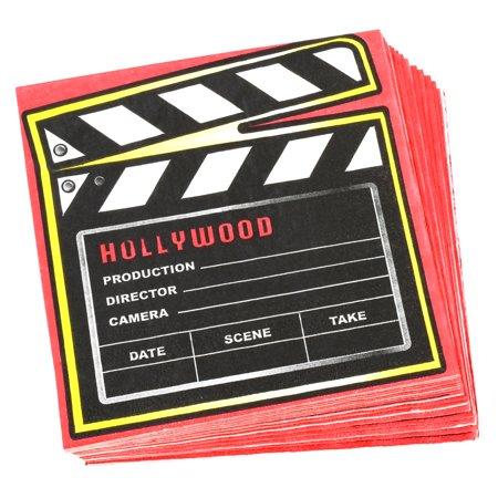 Novelty Movie Clapper Napkins Birthday Party Supplies Hollywood Movie Decor