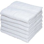 "GHP 72-Pcs 15""x25"" White Cotton 10/S Yarn Absorbent Economy Kitchen Hand Towels"