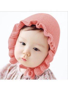 Baby Boys Girls Winter Warm Cap Handmade Wool Ear Knitting Hats