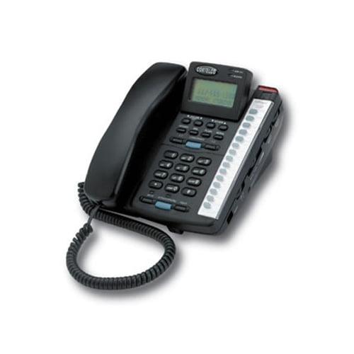 Cortelco ITT-2220-Black Corded Phone - 2-Line Operation