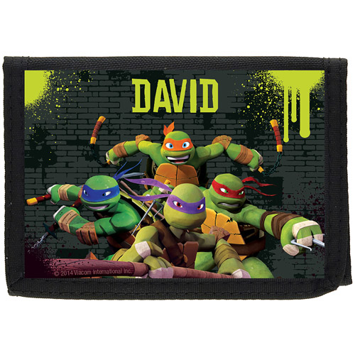 Personalized Teenage Mutant Ninja Turtles Ooze Black Wallet