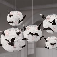 5-Ct Amscan Dark Manor Bat Paper Lanterns w/24 Bats Deals