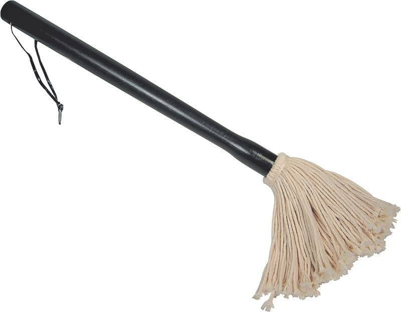 GrillPro 42055 Deluxe Basting Mop, Cotton Mop Head, Black by Onward Manufacturing