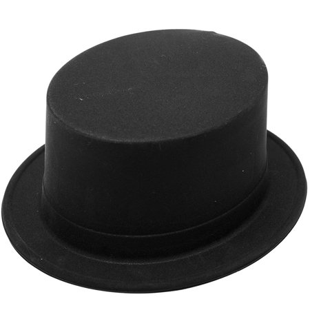 Black Velour Topper - Velour Hat