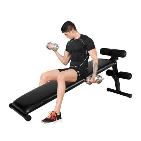 UBesGoo Sit Up Bench, Adjustable Ab Crunch Exercise Decline Slant Board, Fitness Workout Equipment, for Home Gym