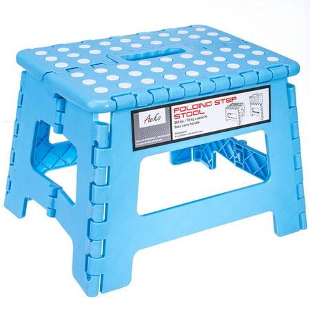 Acko Sky Blue 11 Inches Non Slip Folding Step Stool For