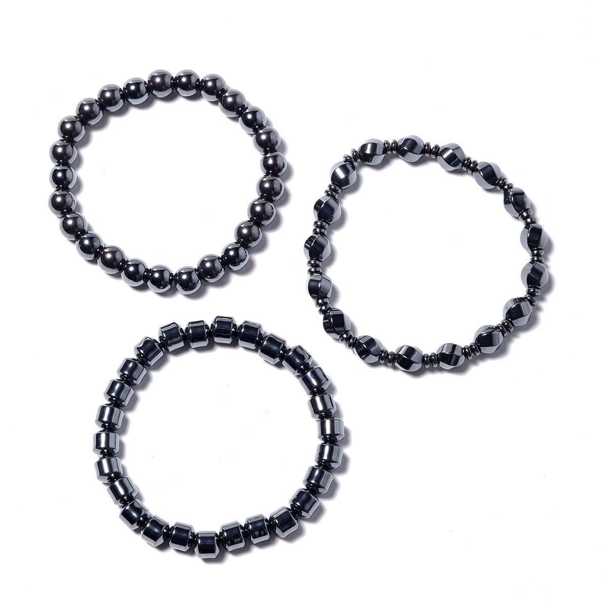 Men/'s Women/'s Double 100/% Magnetic Hematite Bracelet Anklet THERAPEUTIC Healing