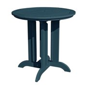 HighwoodUSA AD-CRT36-NBE Round Counter Dining Table, Nantucket Blue - 36 in.