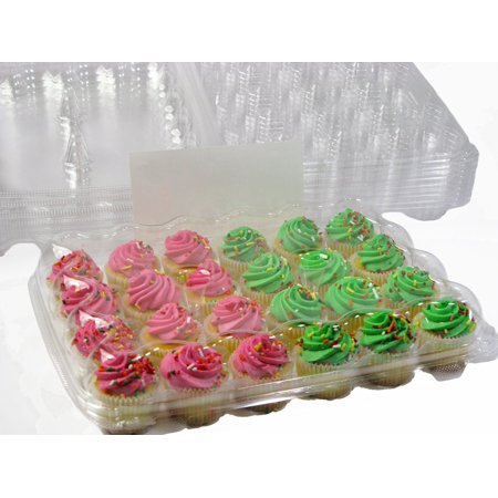 Mini Cupcake Box (Katgely 24 Mini Cupcake Containers - 4 per)
