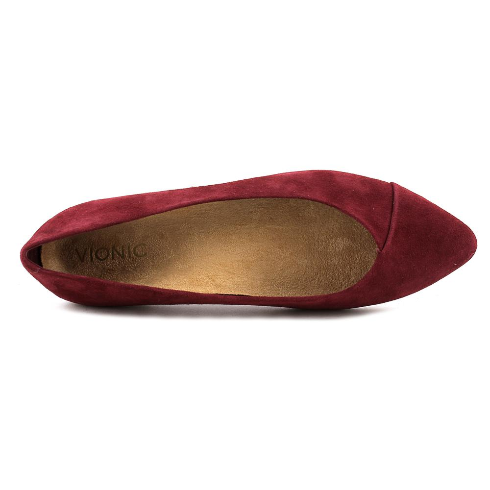 Vionic Gem Caballo Women  Pointed Toe Leather Burgundy Flats
