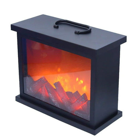 Elegantoss Artificial LED Fireplace with Realistic Log Wood Burning Flame Simulation Effect Portable Fire Flame Light for Indoor Outdoor -