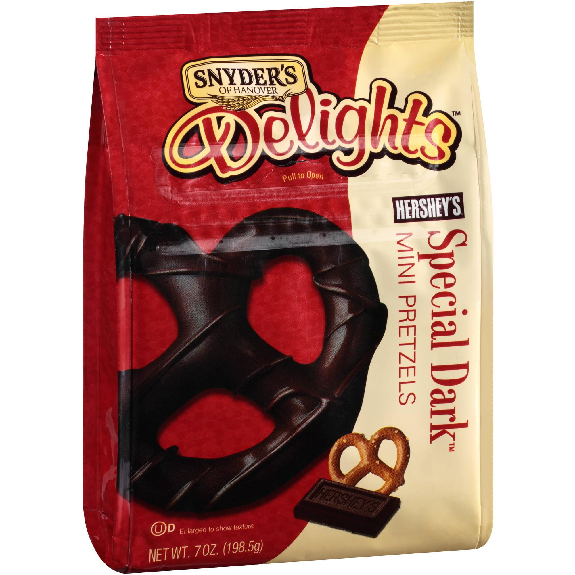 Synder's of Hanover Delights Hershey's Special Dark Mini Pretzels, 7 oz