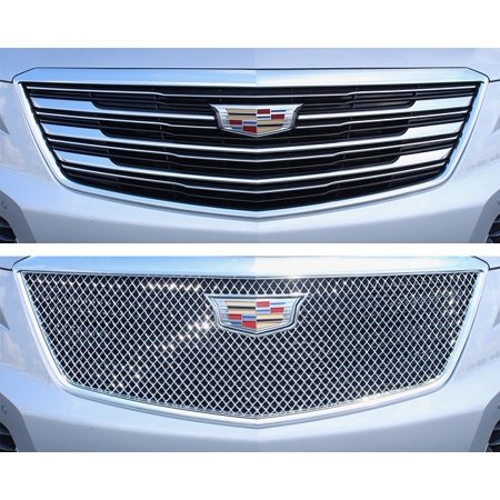 Chrome ABS Plastic Grille Overlays 1Pc Fits Cadillac XT5 2017-2019 ABS483