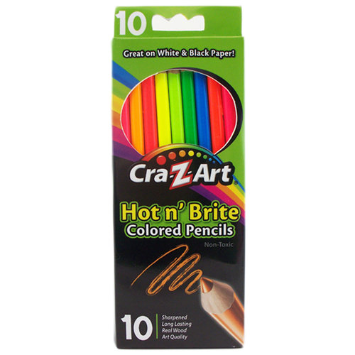 Cra-Z-art Hot n' Brite Colored Pencils, 10ct