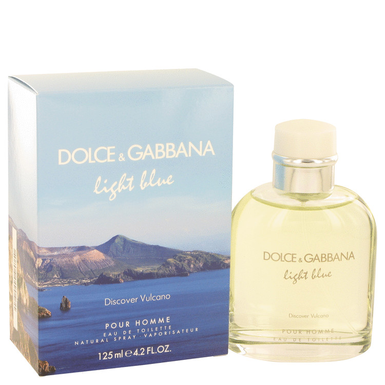 Light Blue Discover Vulcano Eau De Toilette Spray 4.2 oz For Men 100% authentic perfect as a gift or just everyday use