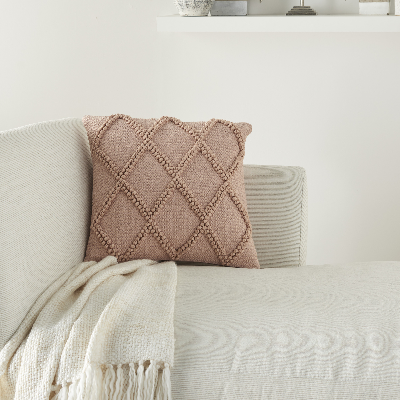 Nourison Life Styles Blush Decorative Throw Pillow 18 X18 Walmart Com Walmart Com