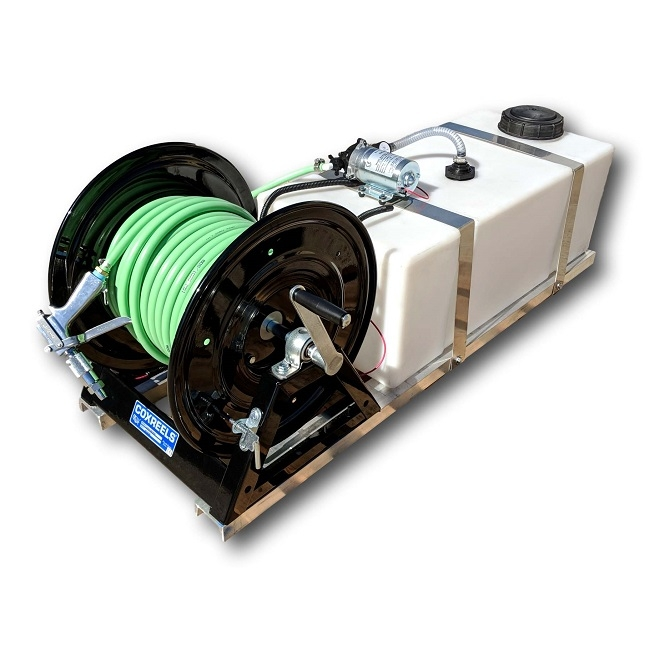 "Solutions Shurflo Pesticide Skid Sprayer- 25 Gallon, 150' 3 8"" Hose by Solutions"
