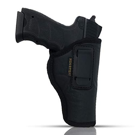 IWB Gun Holster by Houston - ECO Leather Concealed Carry Soft Material | FITS Glock 17/21, H &K,Beretta 92 FS,XDM,Ruger 45 BERSA PRO,PX4,FNX 45,FNH 45,HI Point 9/40/45 MM (Right) (Fits 45 Mm Neck)