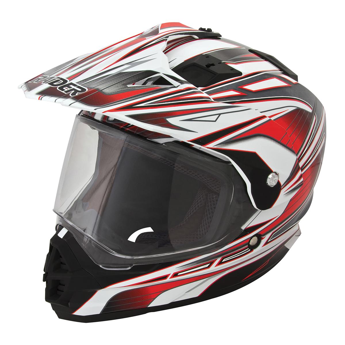 Adult Raider Edge Dual Sport Helmet MX ATV Dirt Bike Off ...