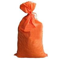 "Sandbags For Flooding - Size: 14"" x 26"" - Orange - Sandbags Empty - Sandbags Wholesale Bulk - Sand Bag - Flood Water Barrier - Water Curb - Tent & Store Bags (100 Bags)"