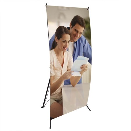 "WinSpin Wholesale 24""x63"" X Type Banner Stand Foldable Tripod Signage Holder w/Bag Trade Show Display"