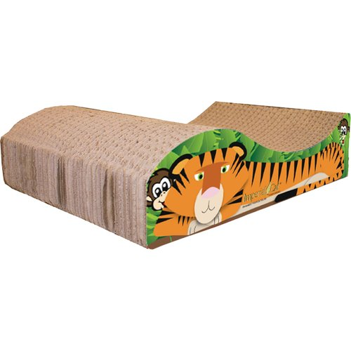 Imperial Cat Scratch 'n Shapes Small Tiger Recycled Paper Scratching Board