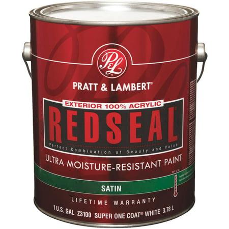 Pratt Lambert Redseal 100 Acrylic Satin Exterior House Paint