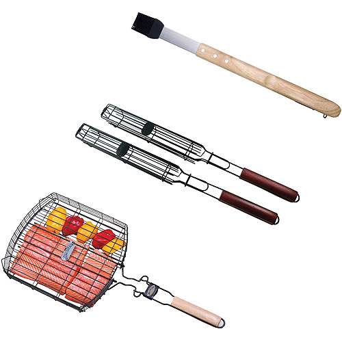 Jim Beam 6-Piece Grill Basket Kit