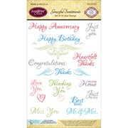 """JustRite Papercraft Clear Stamps 4""""X6""""-Graceful Sentiments"""