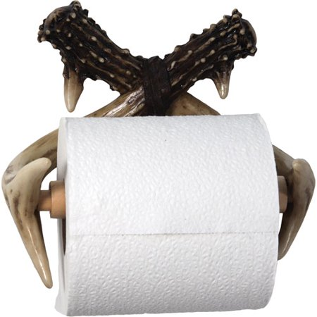 Rivers Edge Products Deer Antler Wall Mount Toilet Paper Holder