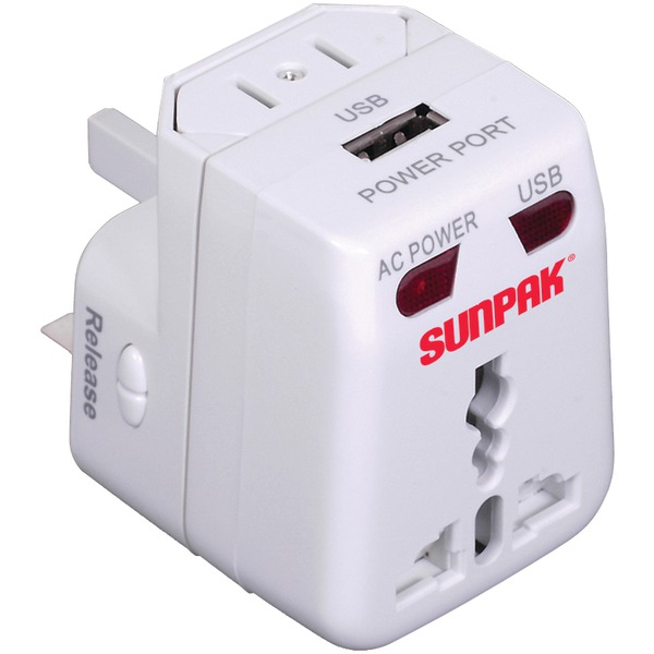 SUNPAK TRAVEL-ADAPT Universal Travel Adapter by Sunpak