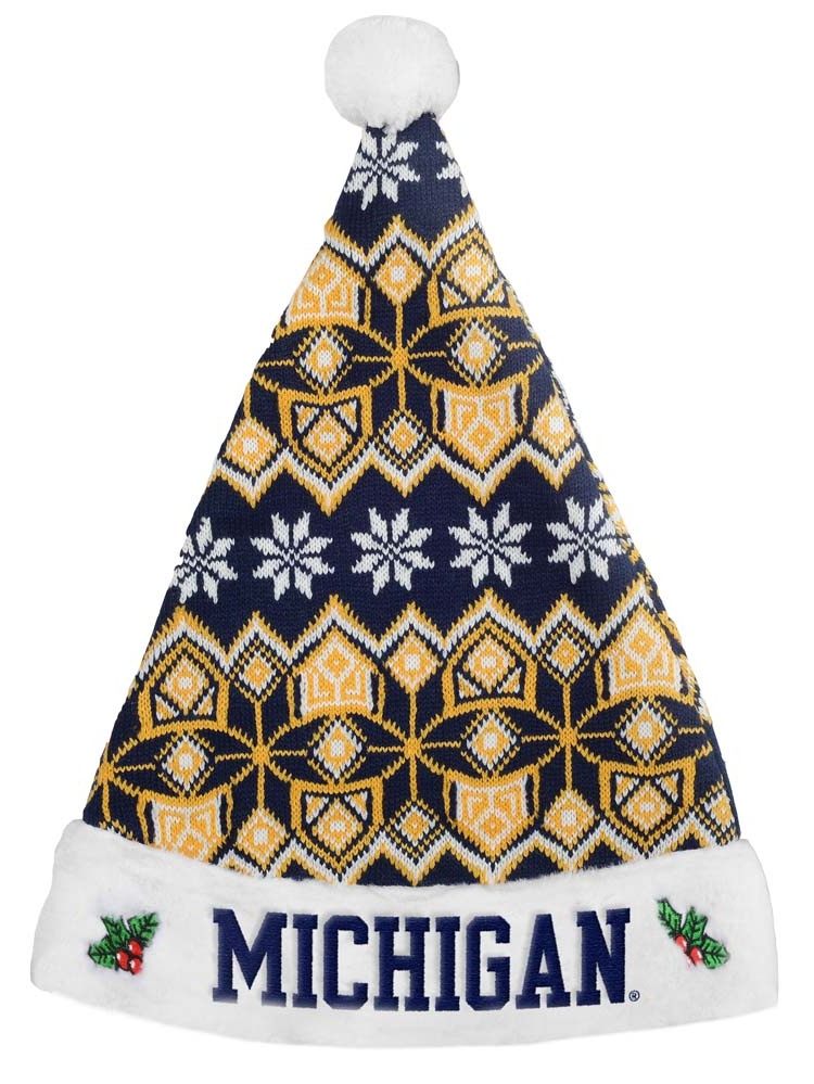 Michigan Wolverines Knit Santa Hat 2015 by Forever Collectibles