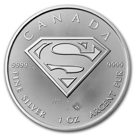 2016 Royal Canadian Mint S-Shield Superman 1 oz Silver Coin