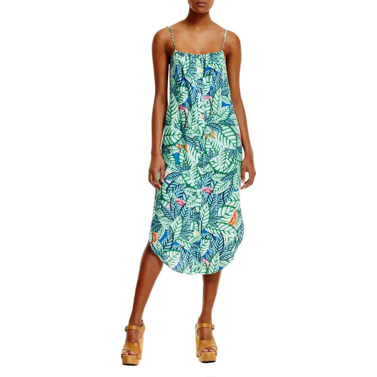 Mara Hoffman Womens Floral Print Button Sundress