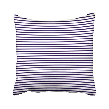 WinHome Square Throw Pillow Covers Vintage Sailor Stripes Navy Blue And White Pillowcases Polyester 18 X 18 Inch With Hidden Zipper Home Sofa Cushion Decorative Pillowcase