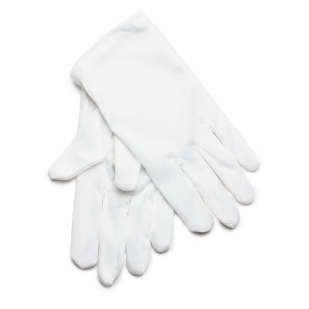Child Kids White Cotton Gloves One size Fits Most Children - White Gloves Toddler