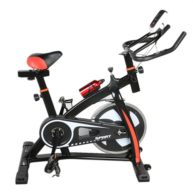 LCD Screen Stationary Exercise Bike Indoor Cycle Cardio W...