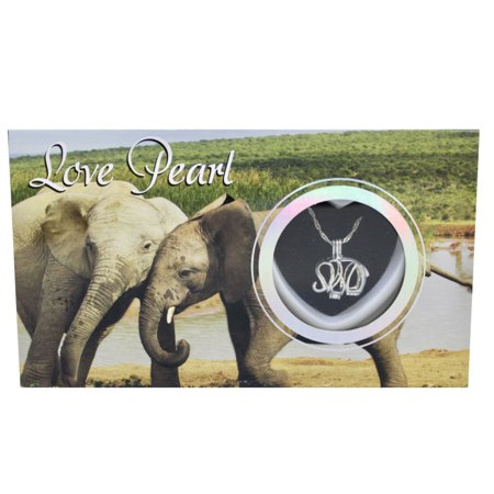 Make A Wish Necklace - Elephant Love Wish Pearl Kit Cultured Pearl Necklace Set with Stainless Steel Chain 16