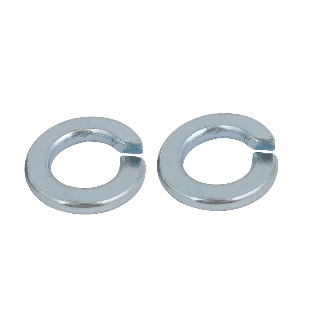 20pcs 3//8-inch Inner Dia Carbon Steel Split Lock Spring Washer Silver Blue
