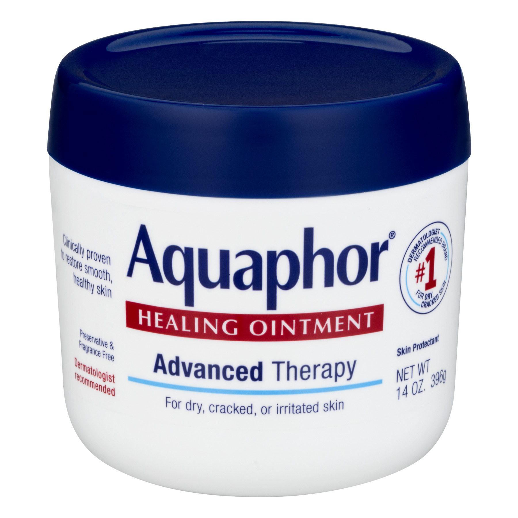 Aquaphor Advanced Therapy Healing Ointment Skin Protectant 14 oz. Jar