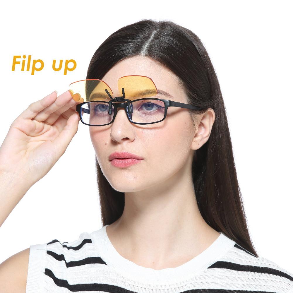 5628608e473f Cyxus Blue Light Filter (Clip On)Yellow Lens Glasses