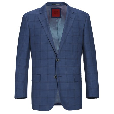 Men's Wool Blend Plaid Classic Fit Sport Coat Suit Jacket Blazer Classic Wool Blazer