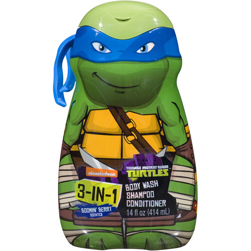 Teenage Mutant Ninja Turtles - TMNT - 3 in 1 Body Wash , Shampoo, Conditioner (color and style may vary)