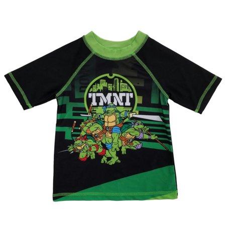 3d05ca6248 Nickelodeon - Teenage Mutant Ninja Turtles Toddler Boys Cartoon Rash Guard  Swim Shirt - Walmart.com
