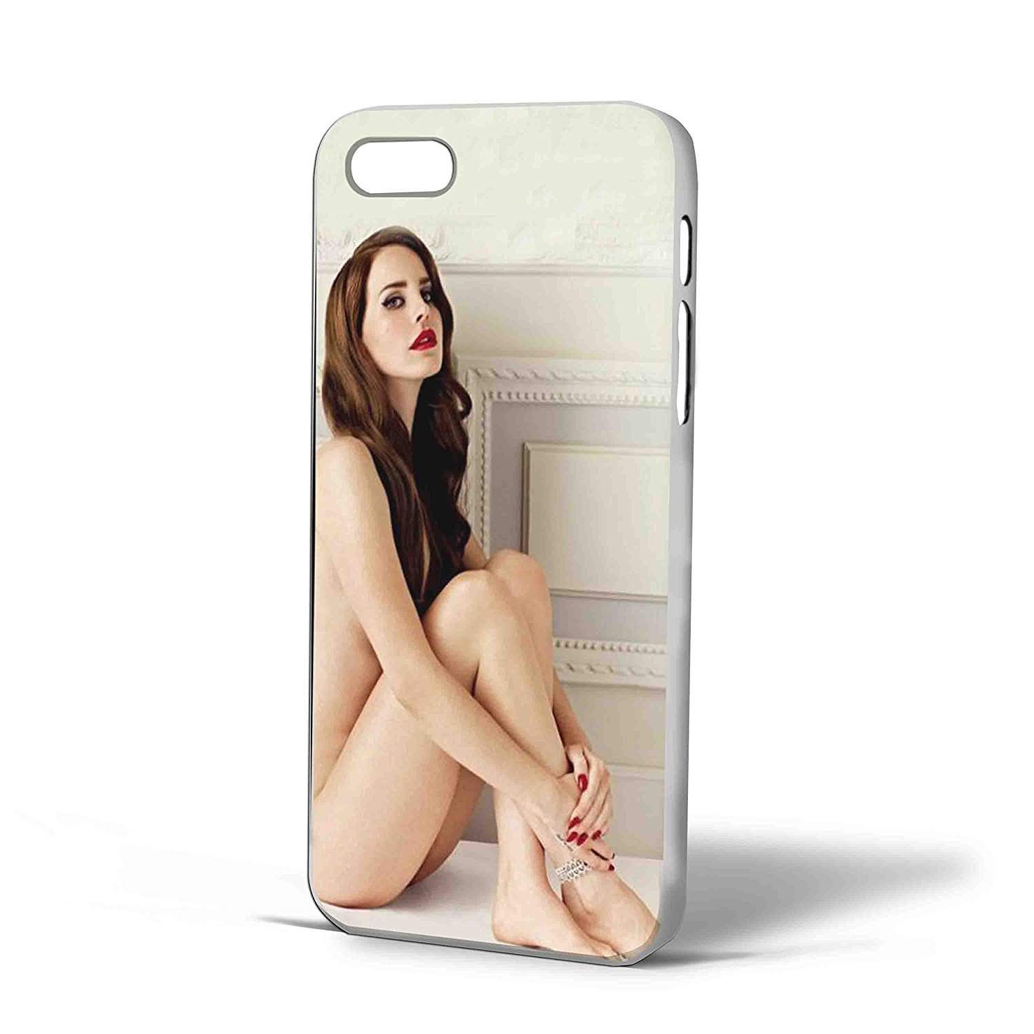 Ganma Lana Del Rey Naked Case For iPhone Case (Case For iPhone 5c white)