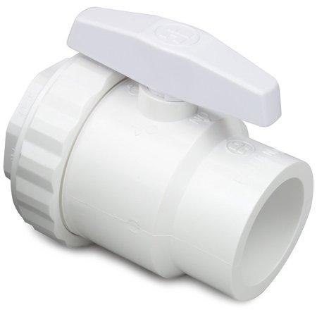 "Hayward SP0722SPAK 1.5"" SKT 2-Way PVC Trimline Ball Valve (Case of 12)"
