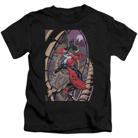 Trevco BM2705-KT-1 Batman Harley First-S by S Juvenile Short Sleeve Shirt, Black - Small 4 - Girl With Harley