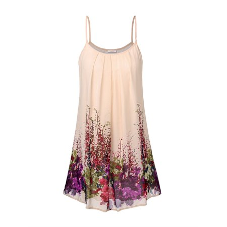- Spaghetti Strap Women Print Sleeveless Vest Shirt