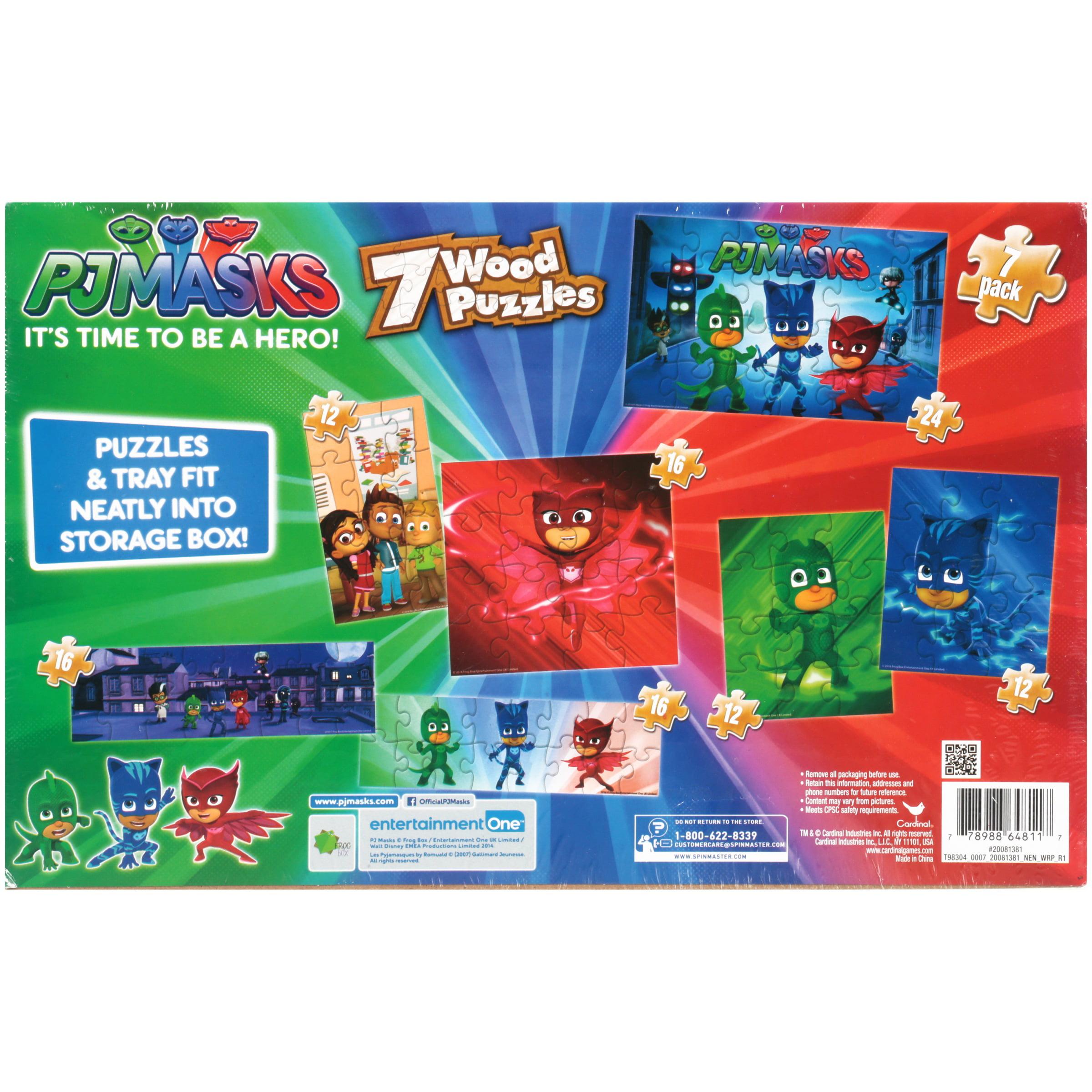 PJMasks Wooden Puzzles 7 ct Pack - Walmart.com